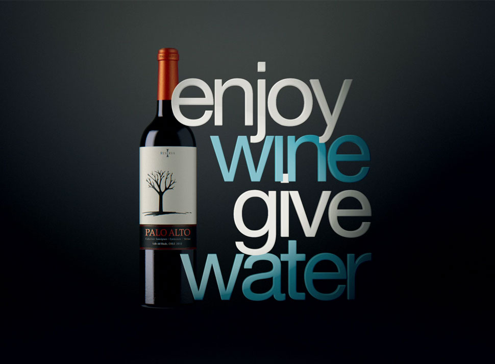 Viña Palo Alto launches its new campaign Enjoy Wine, Give Water!