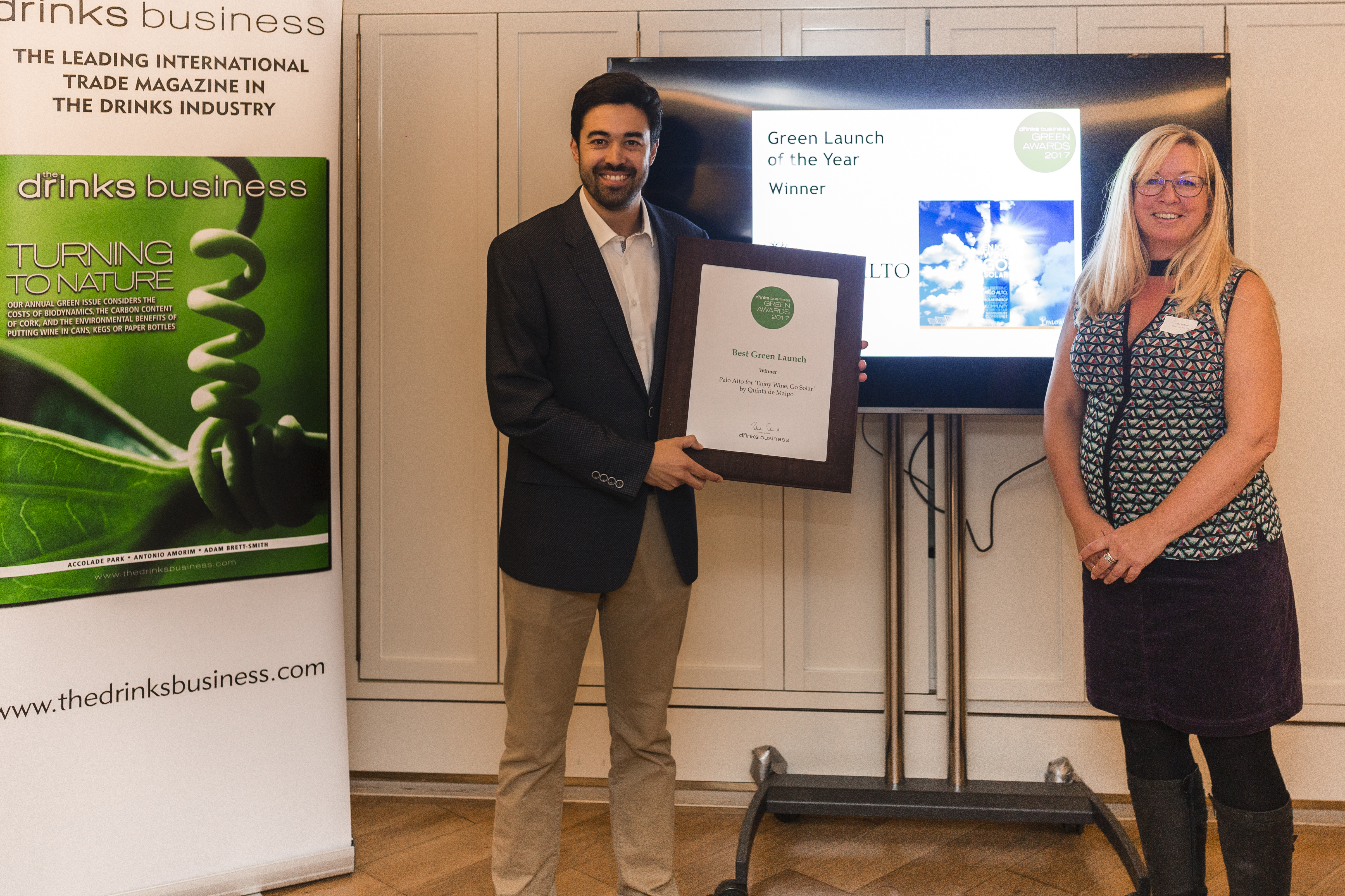 "Palo Alto is Awarded ""Best Green Launch of the Year"" By the Drinks Business"